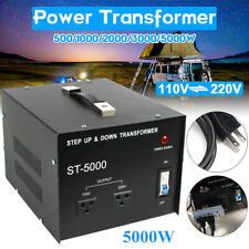 5000W Commercial Home Power Voltage Converter Transformer Step Up/Down 110⇋220V