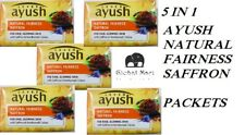 LEVER AYUSH Natural Fairness Saffron Soap 100g x 5 pack Skin Cleansing Purifying