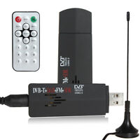 USB 2.0 TV Stick FM+DAB DVB-T RTL2832U + R820T Support SDR TV Tuner Receiver Neu