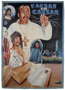 Ghana movie poster African cinema Hand painted Juju CAESAR TO CAESAR