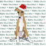 Greyhound Dog Coasters Christmas Themed Puppy