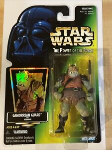 Star Wars Power of The Force (1997) Gamorrean Guard Green Card Figure Kenner