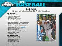 2020 Topps Chrome Baseball Hobby Box Break! $12, RANDOM team, live draw!
