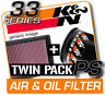 K&N Air & Oil Filter Twin Pack! FORD Mustang 3.7L V6 2011-2013  [KN #33-2431]