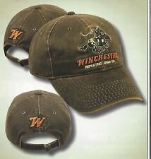 WINCHESTER Brown w/ Logos Hunting Hat Target Shooting Rifles Firearms