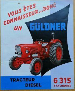 Prospekt Güldner G 315 / G 40 Export Rarität