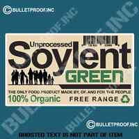 UNPROCESSED SOYLENT GREEN DECAL STICKER FUNNY NOVELTY MOVIE DECALS STICKERS