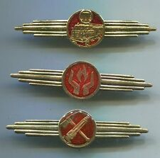 East German Fire Dept Classification Badges Lot 3