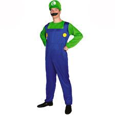 Luigi From Super Mario Style Gents Fancy Dress Costume