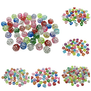 NEW ARRIVAL TRANSLUCENT VARIOUS SHAPED ACRYLIC BEADS FOR JEWELLERY MAKING