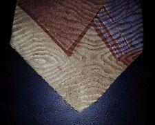 Guy Laroche Tie Silk Tan Brown Teal Purple Green Design Abstract NIB t3413