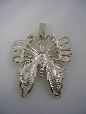 BUTTERFLY PENDANT WITH A DIAMOND CUT FINISH IN STERLING SILVER
