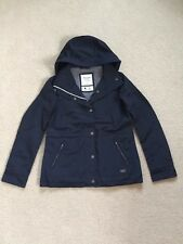 NWT Abercrombie & Fitch Womens HOODED TECHNICAL JACKET Outerwear Navy Sz.Medium