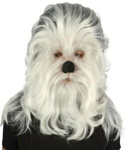 Hairy Warrior Ape Military Leader Resistance Fighter Cosplay Hand Tied Mask Wig