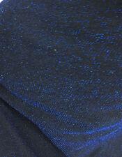 Estiramiento jersey Confección Tela Real Azul Brillante hilo metálico
