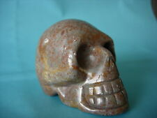 Crystal Skull chinese red spotty fossil no 2