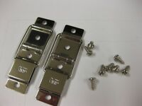 VINTAGE DANSETTE  RECORD PLAYER CABINET SPARES NICKEL CHENEY HINGES SINGLESLIDER