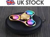 2 Fidget Spinner Colorful Metal LED Hand Spinner EDC Fingertip Gyro Stress Toys