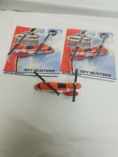 (3) Matchbox Hero City Sky Busters orange helicopter