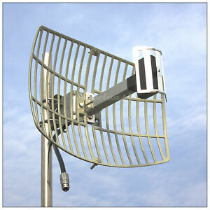 Long Range 17dBi 2.4G WIFI Wireless Grid Parabolic Antenna TDJ-2400SPD4 N Female