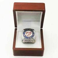 2019 Washington Nationals World Series Championship Ring 18k GOLD PLATED  (USA)