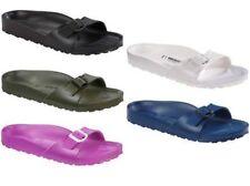 Flache Damen-Sandalen & -Badeschuhe im Pantoletten-Stil aus Synthetik