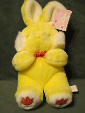 VINTAGE CHOSUN INTERNATIONAL YELLOW EASTER BUNNY RABBIT FLOWER PLUSH STUFFED 13""