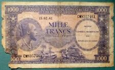CONGO 1000 1 000 FRANCS NOTE ISSUED 15.02. 1962, P 2