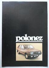 POLSKI FIAT FSO POLONEZ orig 1980 UK Mkt Sales Brochure
