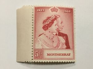 old stamp  MONTSERRAT    5 shillings Silver Wedding