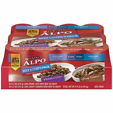 Purina ALPO Prime Cuts/Gravy Cravers Beef Lover's Pack Dog Food - 1 9.9 lb. Tray
