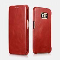 Etui Samsung Galaxy S6 Edge Vintage Etui en cuir Rouge