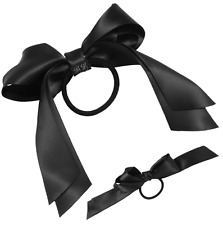 Multicolour Stylish Young Satin Ribbon Bow Hair Band Ponytail For Women