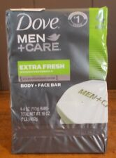 Dove Men Care Body and Face Bar Extra Fresh 4 Ounces 4 Pack