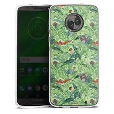 Lenovo MOTO g6 PLUS IN SILICONE GUSCIO Case Cellulare-Jungle Friends