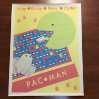 VINTAGE PAC MAN POSTER FROM THE EARLY 1980'S. POSSIBLY EARLIER