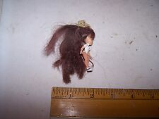 Vintage Small Unmarked Jointed Doll with Long Hair - Estate Find