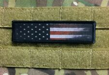 1x4 Distressed Usa Flag Morale Patch Tactical Military Army Funny Badge Hook