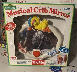 Sesame Street Musical Crib Mirror Music Lights Big Bird Vintage 1993 Tyco Tested