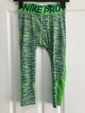 Men's Nike Pro Dry-Fit Compression Training Tights, Multicoloured, Size Small