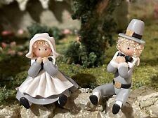1:48 Miniature Dollhouse Artisan Julie Stevens Pilgrim Couple Boy Girl Dolls