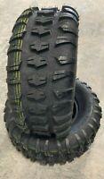 2 New ATV Tires 26 10 12 Pro Terrain 4 ply UTV 26x10x12 Tubeless replaces 11.00