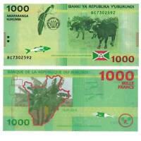 Pick 51 Burundi 1000 Francs 2015  Unc. / 2814047vvv