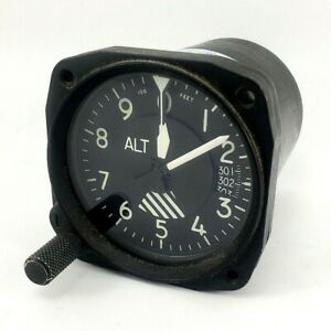 Vintage Cessna/Garwin S-1313 N1 Altimeter Ser No.B1985 Analog Display 1956-69