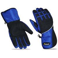 Mens Motorcycle Motorbike Winter Textile Waterproof Gloves Thermal Thinsulate