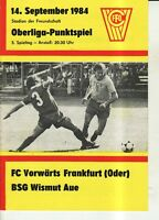OL 84/85  FC Vorwärts Frankfurt/O. - BSG Wismut Aue