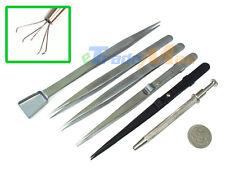 6 Pieces Jewelry Gem Diamond Prong Tweezers Pickup Tools