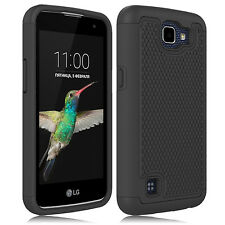 Shockproof Hybrid Rugged Case Cover For LG Optimus Zone 3 / K4 Rebel LTE VS425