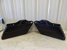 Harley Black Denim Red Pin Stripe Saddlebag Bottoms Touring 14-16 90201066DBN