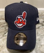 Cleveland Indians New Era The League 9FORTY Adjustable Hat Cap - Navy